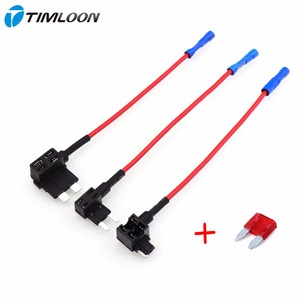 2pcs Car Automobile Beauty Fuse Box Blade Electric Appliance Holder Car Accessories Add Circuit with 10A32V Autofuse