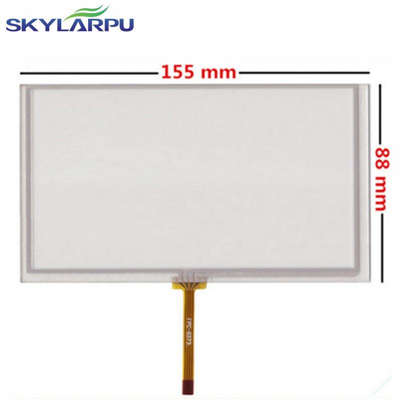Skylarpu navegación del coche DVD 6.5 pulgadas pantalla táctil 155mm * 88mm digitalizador panel de vidrio