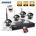 Annke 4ch 960 p nvr sistema de câmera ip sem fio wi-fi cctv ao ar livre câmeras de vigilância de vídeo kit nvr 1 tb hdd