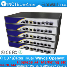 Dual Core 1037U Intel PCI E 1000M 6 82583v Firewall Hardware with Flow Control RIPPLEOS openwrt
