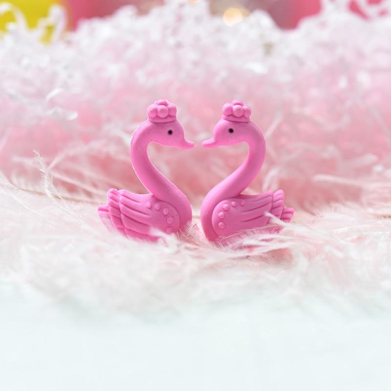 2 Pcs/lot Romantic Swan Love Eraser Cute Cartoon Rubber Eraser Kawaii Stationery School Supplies Papelaria Kids Gifts