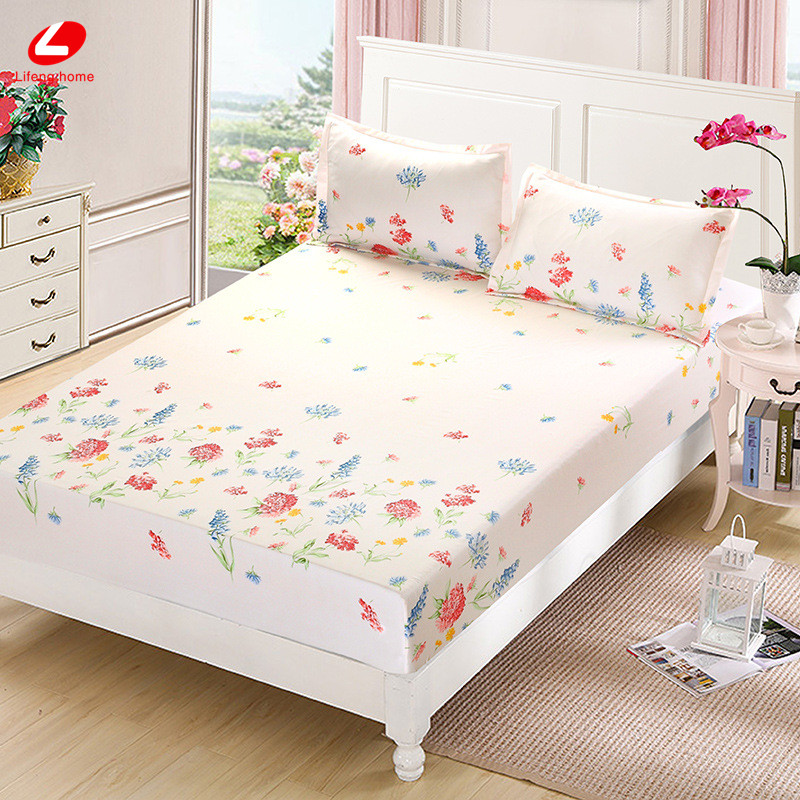 Home textile bed sheet sheet flower mattress cover printing bed sheet elastic rubber bedclothes 180*200cm summer bedspread band 39
