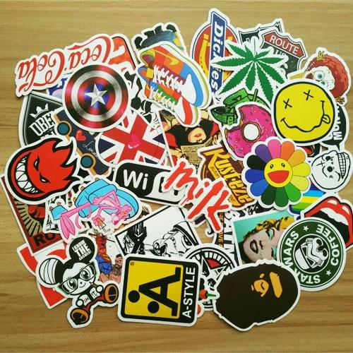 50pcs/ set Graffiti Sticker Car Styling Skateboard Fridge Vinyl Decals Luggage Home Decor Laptop Toy Kids DIY Cute Stickers