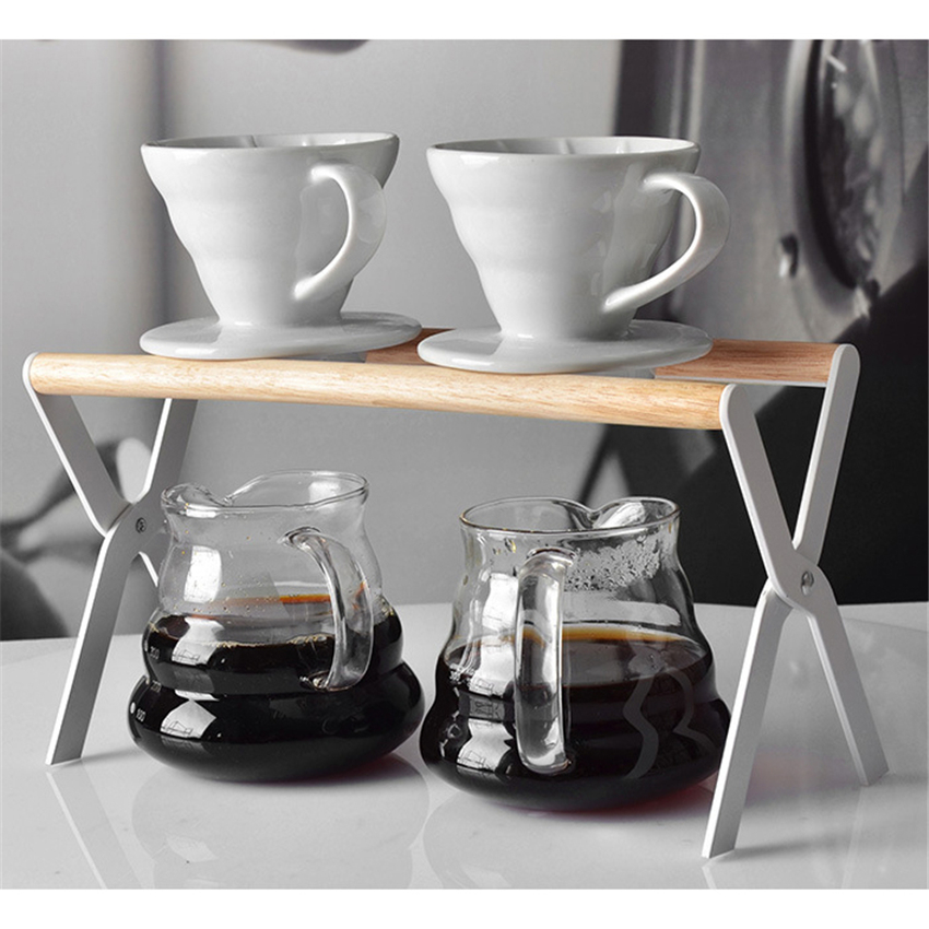 Coffee Filter Holder Stand Rack Tea Leaves Filter Stander Coffee Filter Baskets Permanent Coffee Dripper Coffee Accessories