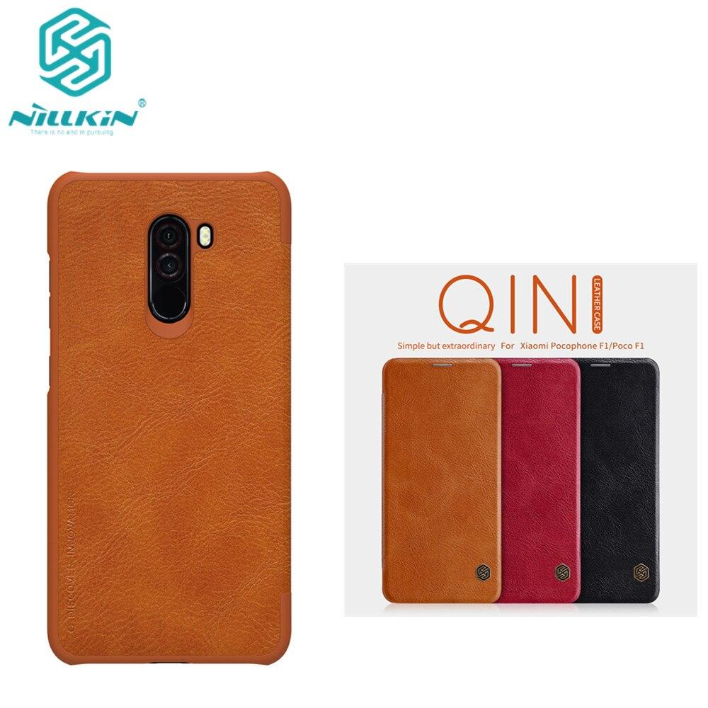10pcs lot Wholesale NILLKIN Qin Series Wallet Flip Leather Case For Xiaomi POCOPHONE F1 Genuine Flip