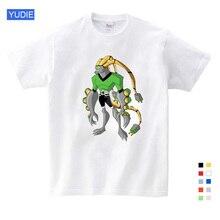 Cartoon Summer Omnitrix Ben 10 Print Tee Tops for Boy Girls Children Clothes White T-shirt Kids T Shirt YUDIE