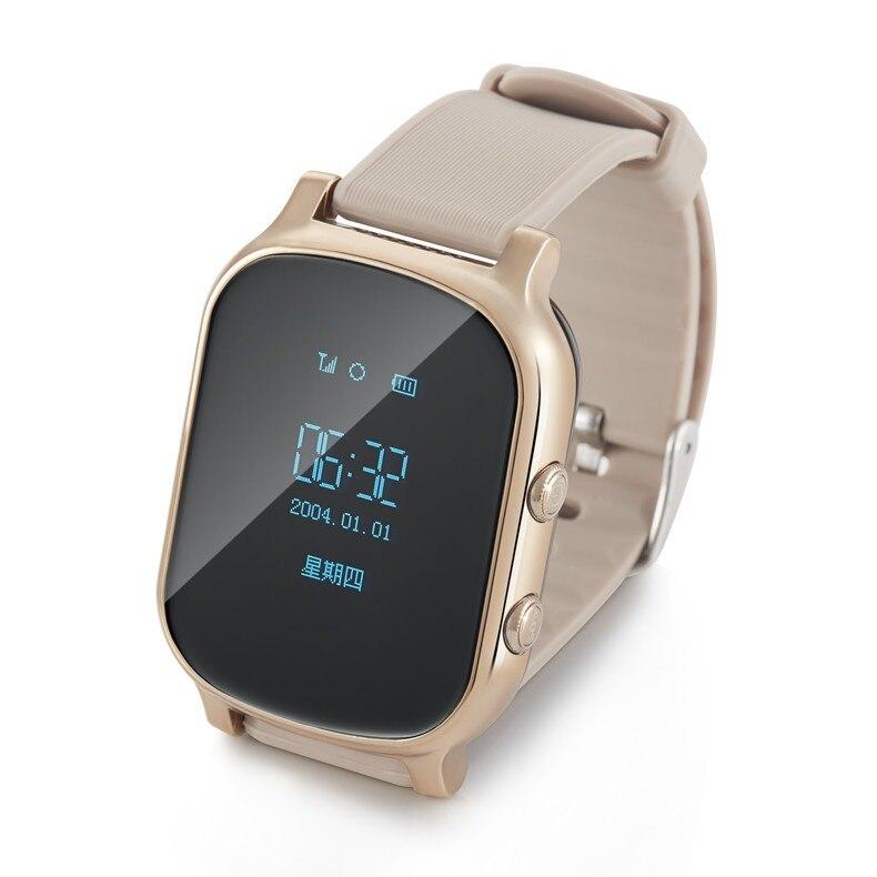 US $38.25 10% OFF|Mini GPS Tracker Smart Horloge T58 Kids Kind Elder Armband Persoonlijke Locator GSM Tracking Apparaat LBS WiFi Call Gratis Web APP