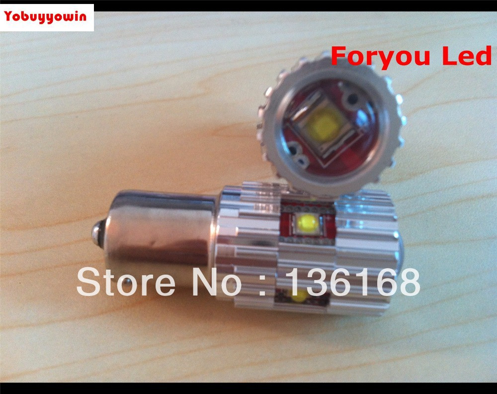 25w WHITE/AMBER/YELLOW CANBUS ERROR FREE CREE Chips P21W 382 BA15s 1156 LED CAR BULB REVERSE DRL ruiandsion 2x75w 900lm 15smd xbd chips red error free 1156 ba15s p21w led backup revers light canbus 12 24vdc