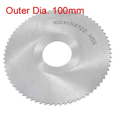 1pc Silver Gray HSS 72 Tooth Slitting Saw Blade 100mm X 27mmHole Dia. X Thickness 0.5/0.8/1/1.2/1.5/2/2.5/3/3.5/4/4.5/5/5.5/6MM