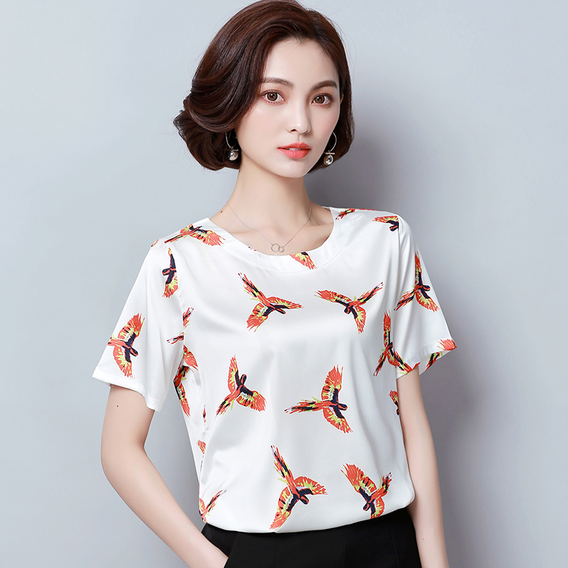 472323d7fc4 2018 New Women Office work shirts female elegant high quality silk satin  long sleeve button lapel Party blouse Tops