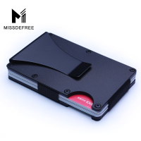 RFID Metal Mini Slim Wallet Detachable Money Clip Brand Fashion Business Credit Card ID Holder With