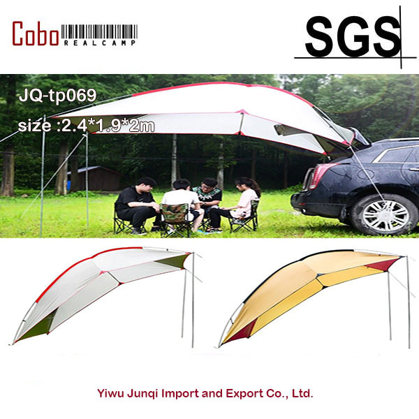 Portable Waterproof Outdoor Car Tent Sun Shade Umbrella Camping Tail Skylight Canopy Trailer Awning Pergola