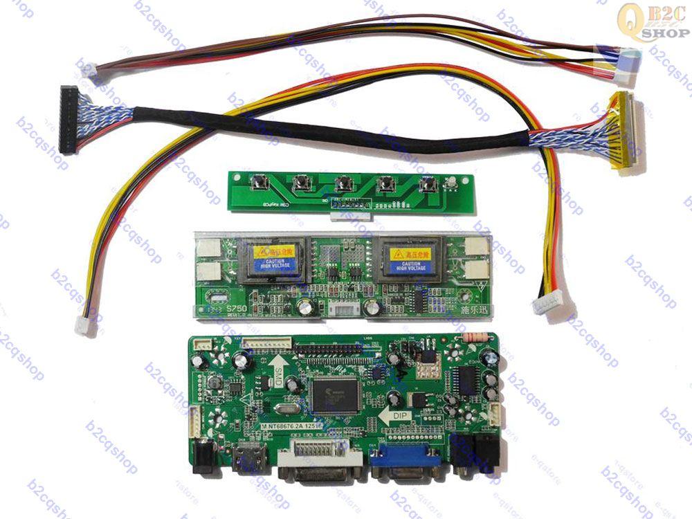 LCD Converter Driver Board Lvds Kit for 1920X1080 M240HW01 V.2 V2 HDMI+DVI+VGA