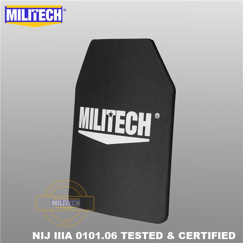 Image 2 - MILITECH 10x12 inches Ultra Light Weight UHMWPE NIJ Level IIIA 3A Ballistic Panel Bulletproof Backpack PE Plate With Test Video-in Self Defense Supplies from Security & Protection