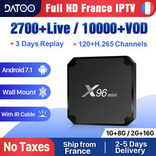 X96 mini France IPTV Box Full Hd French IPTV Android 7.1 Smart Tv Box IPTV Portugal Arabic Italy Belgium Turkey IP TV X96mini