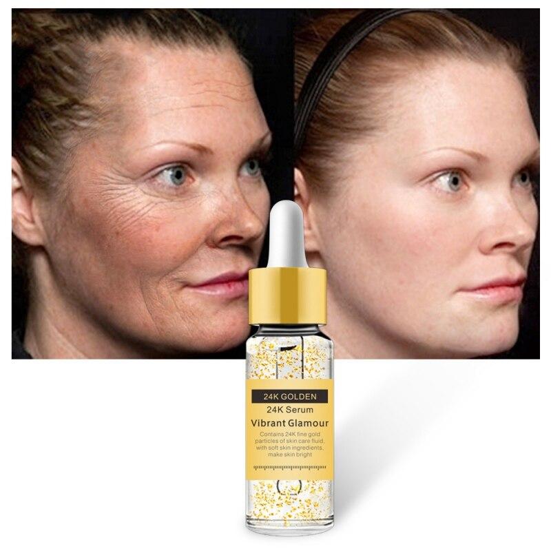 Gold 24K Serum Anti-wrinkle Firming Whitening Essence Anti-aging Face Serum Moisturizing Brighten Skin Care Skin T3