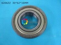 6206ZZ 1 Piece Bearing Free Shipping 6206 6206Z 6206ZZ 30 62 16mm CHROME STEEL DEEP GROOVE