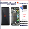 Original Super Amoled LCD Screen For Samsung Galaxy Note 8 N9500 N9500F Assembly Replacement With Frame