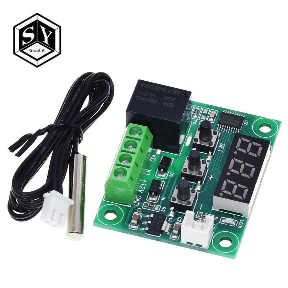 W1209WK W1209 DC 12V LED Digital Thermostat Suhu Kontrol Thermometer Thermo Controller Switch Modul + NTC Sensor