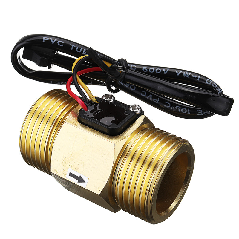 цена на Best Price DC5V G1 DN25 Copper Water Flow Sensor Hall Effect Pulse Output 4~45L/min Liquid Switch Flowmeter High Quality