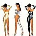 Nova moda feminina sexy one-piece vestido macacão feminino cantor dançarino Dj roupas ds traje de dança jazz desempenho bodysuit desgaste