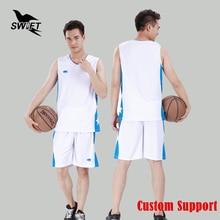 Basketball Men Promotion Sale Jerseys Breathable Mens Sleeveless Jersey 2017 Cheap Shirt Custom Training Uniform Gym