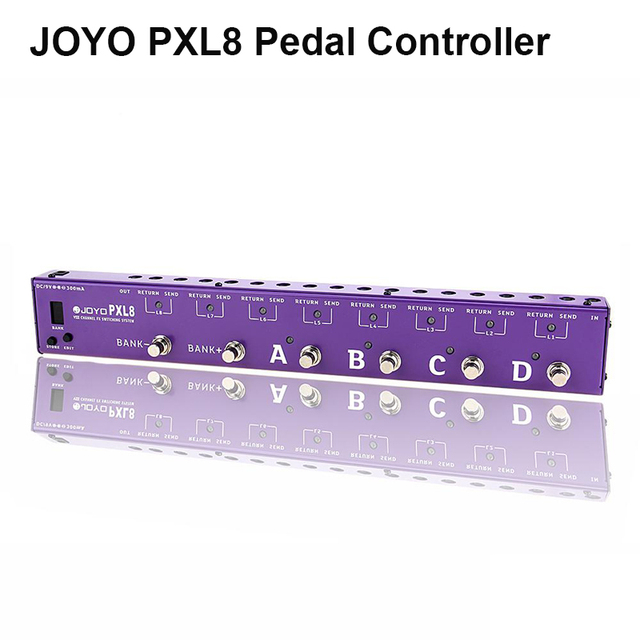 Cheap JOYO PXL8 8 Loops Guitar Programmable Effect Pedal Looper Switcher Router Looping System WAVE-X for Boss Mo oer Pedal Controller