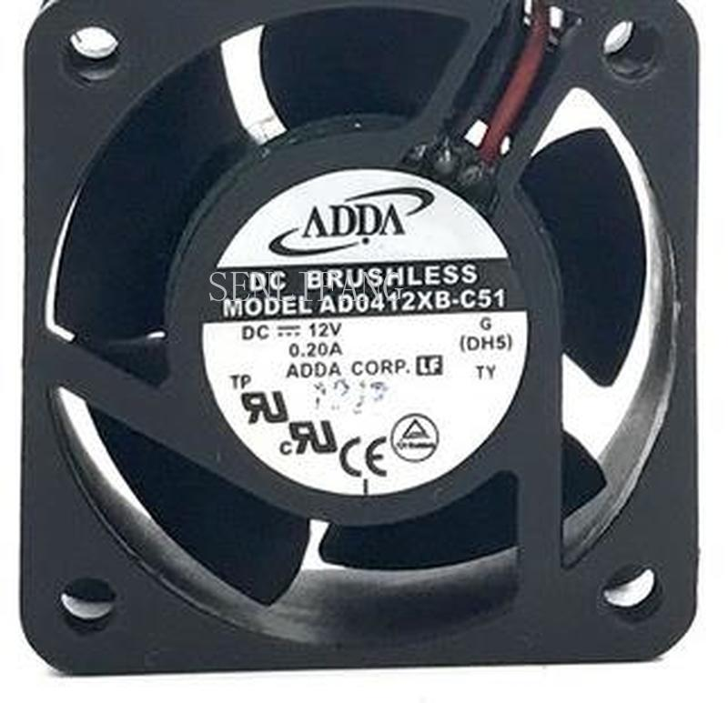 For 4020 AD0412XB-C51 12V 0.2A 2 Wires Ball Bearing Cooling Fan,4cm Case Fan