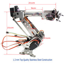 6 Axis Mechanical Robotic Arm Clamp for Arduino Raspberry mor Fully Assembled diy robt(China)
