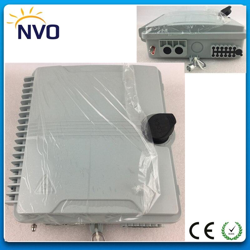 Boîte de Distribution optique de diviseur de FTTH de Fiber de 12 noyaux, boîte de Distribution de borne optique de boîte de FTTH de Fiber de boîte de terminaison de FTTH de 12 noyaux