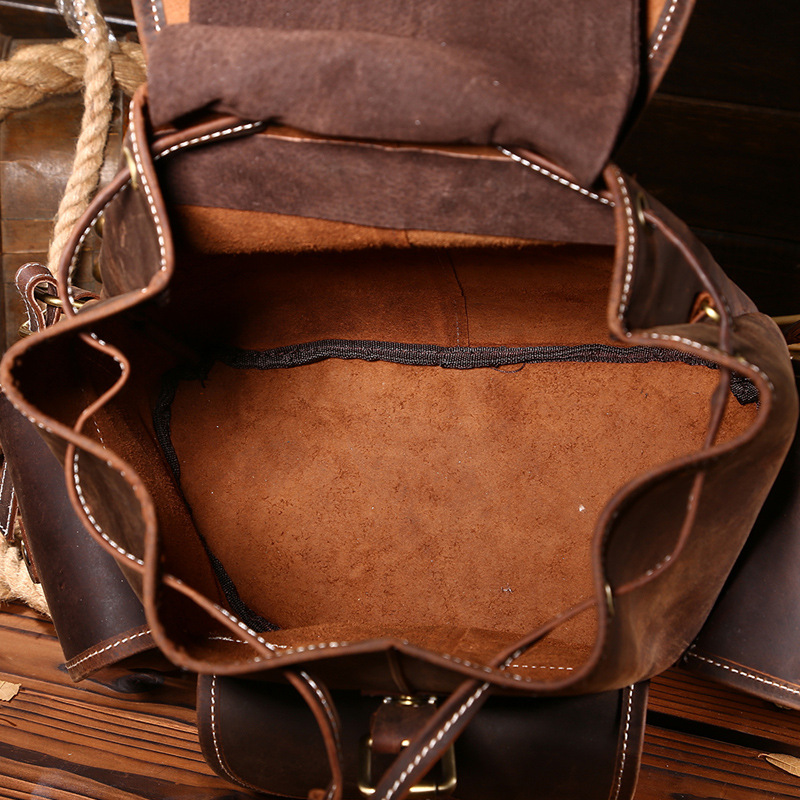 Johnature 2019 새로운 빈티지 정품 가죽 단단한 hasp softback 플랩 포켓 여행 레저 여성 배낭 arcuate 어깨 끈-에서백팩부터 수화물 & 가방 의  그룹 3