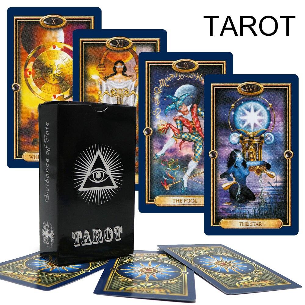 Anglais complet doré images or Tarot pont carte jeu mystérieux tarot cartes pour les femmes jeu de société