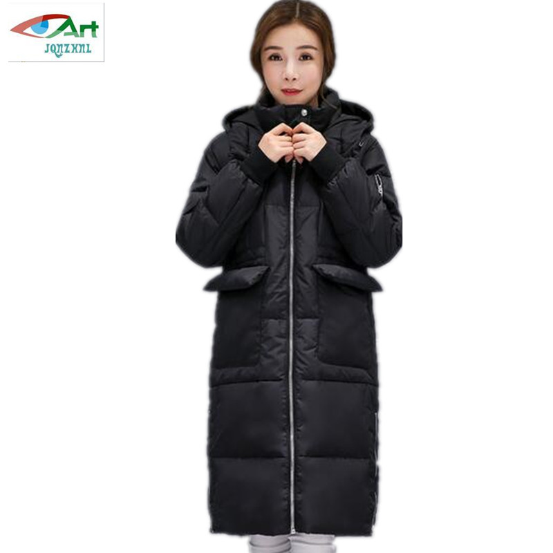 Winter jacket women 2017 High Quality Winter parka New Cotton Padded Coats Women Coat Thickening Warm down jacket AS299 JQNZHNL 2017 new boy anorak winter jacket juveniles winter jacket high quality warm plus down and parka anorak jacket