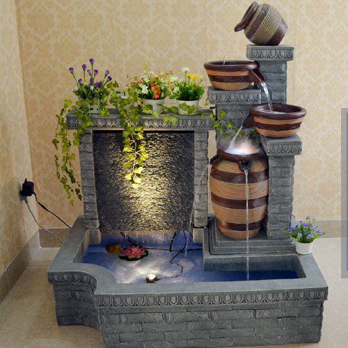 Amplio patio decoraciones tanque del acuario de agua fuente de agua cuenta con las ideas - Motor de fuente de agua ...