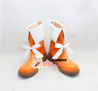 LoveLive Love Live Sunny Day Song Hoshizora Rin Orange Cosplay Shoes Boots X002