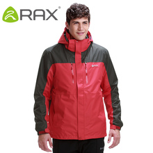 Rax Hiking Jackets Men Waterproof Windproof Warm Hiking Jackets Winter Outdoor Camping Jackets Men Thermal Coat 43-1A061