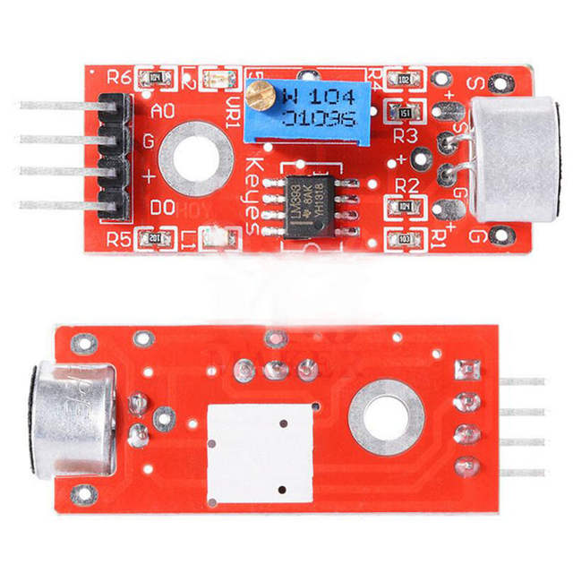 US $1 03 24% OFF|1 Pc 5V Analog Output KY 037 High Sensitivity Microphone  Sensor Module Sound Module For Arduino-in Sensors from Electronic  Components