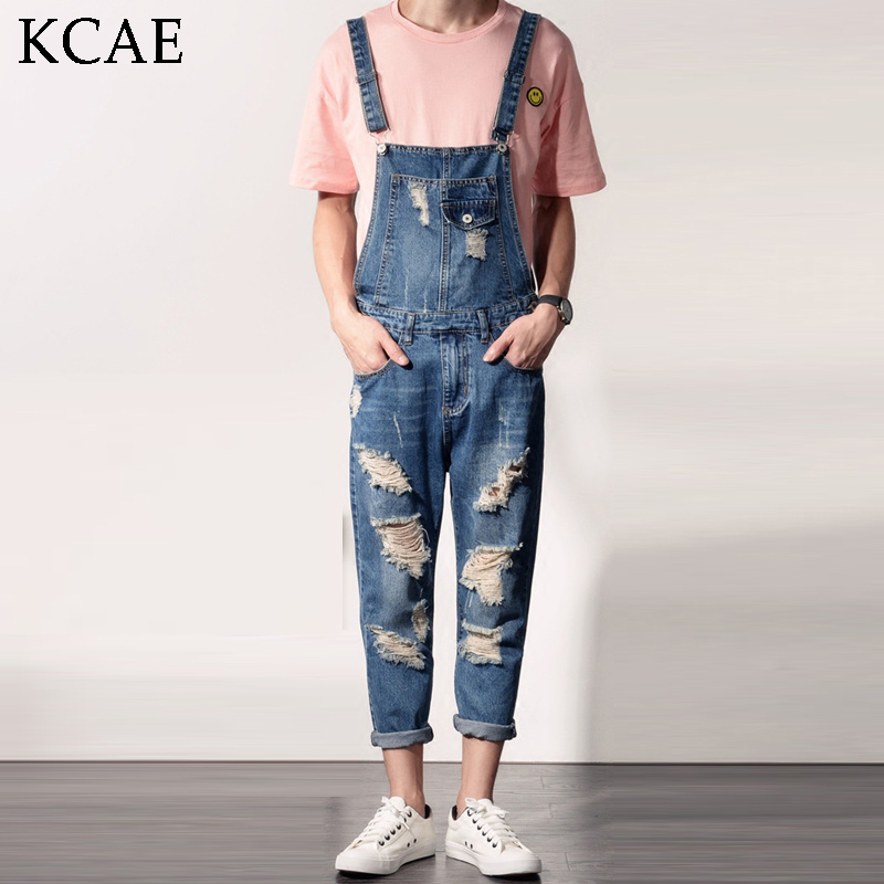 2017 Spring Autumn Fashion mens slim jean overalls Casual bib jeans for men Male Ripped denim jumpsuit Suspenders Bibs  2016 spring autumn fashion brand mens slim jeane overalls casual bib jeans for men male ripped denim jumpsuit