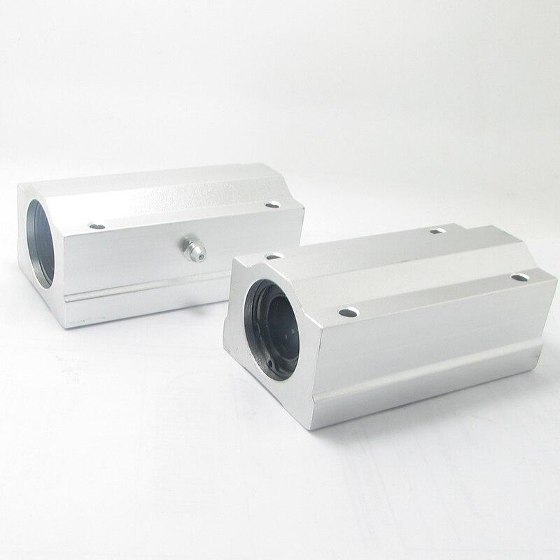 все цены на Free shipping SC25LUU SCS25LUU 25mm long type Linear Ball Bearing Block CNC Router