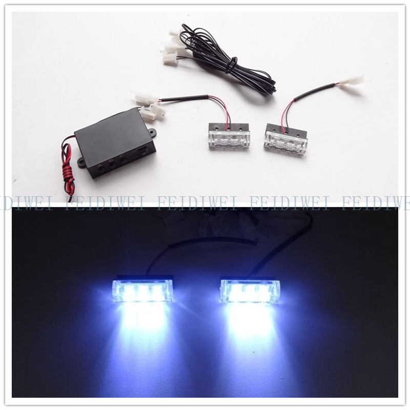 03017  2x3led LED motorcycle flash light Strobe Flash Warning EMS  Car Truck Light Flashing Firemen Lights DC 12V 2*3LED 6LED цена и фото