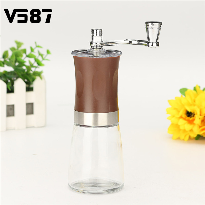 Stainless Steel Manual Coffee Grinder Kitchen Hand Manual Grind Coffee Bean Burr Grinder Mill Tool Hand Crank Coffee Bean Grind