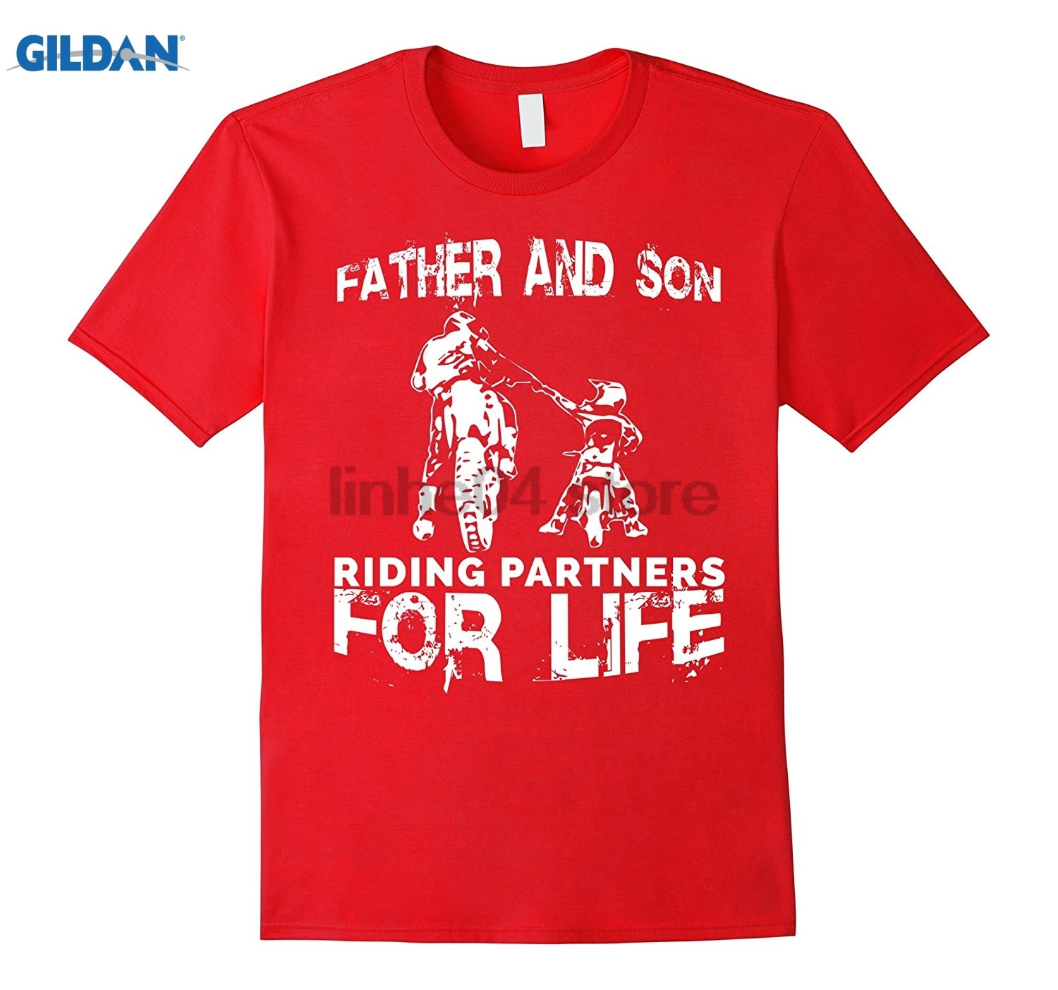 GILDAN Father And Son Riding Partners For Life T-shirt Dads Sons Mothers Day Ms. T-shirt