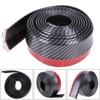 2 5M 6CM Black Soft Carbon Fiber Car Rubber Bumper Strip Outside Bumper Exterior Front Bumper