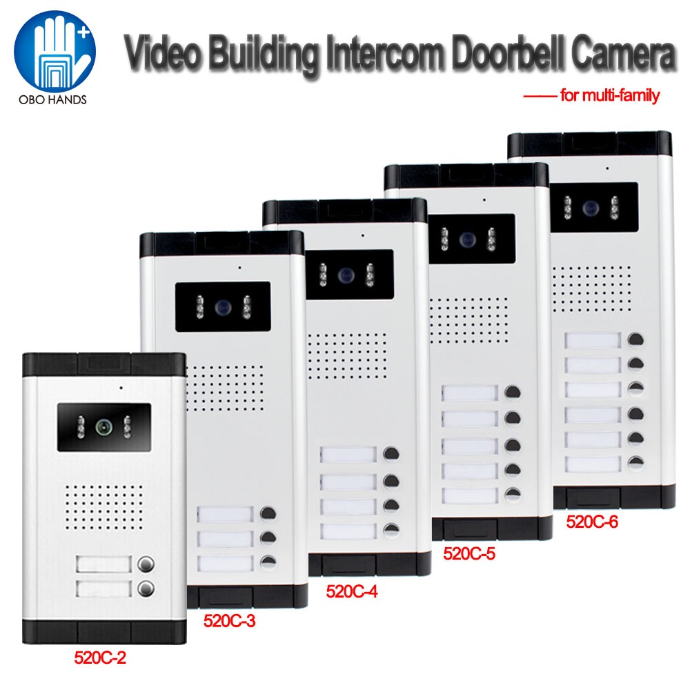 700TVL Waterproof Intercom System Video Door Phone Outdoor Camera IR Light Vision With Multi Call Buttons