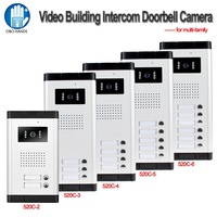 700TVL Waterproof Intercom System Video Door Phone Outdoor Camera IR Light Vision With Two Control Buttons