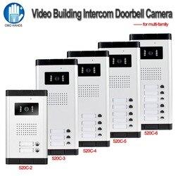 700TVL Wasserdicht Intercom System Video Tür Telefon Im Freien Kamera IR Licht Vision Mit Multi Call Buttons für Wohnung/Häuser