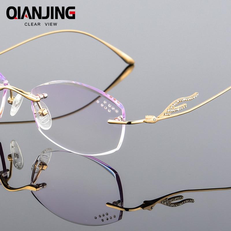 Presbyopie Strass Purpurrot Rahmen Brillen Kurzsichtige Computer Frauen Qianj Spektakel Weibliche Für Elegante 5CwtEq0