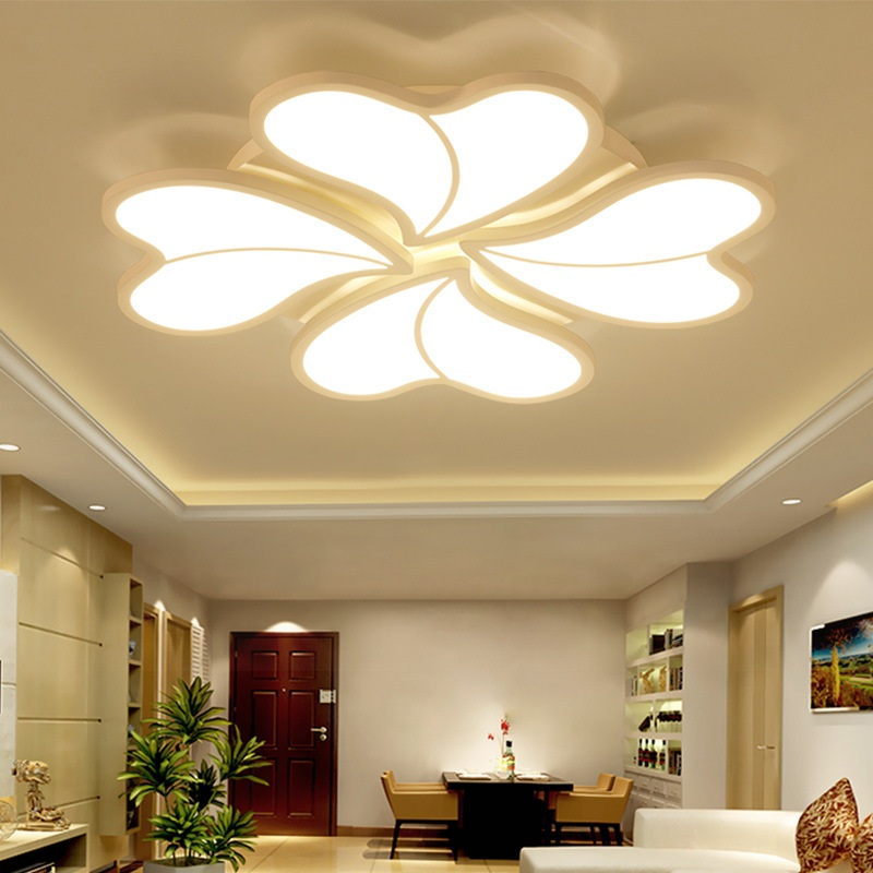 New Heart Shaped Petal LED Ceiling Light Living room bedroom study restaurant lighting Household & Commercial ceiling lamp