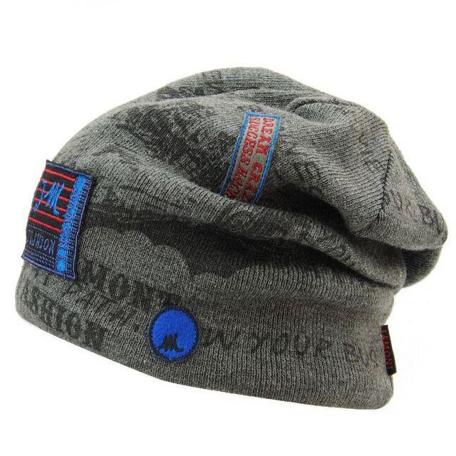 Men's Winter Hat Caps Skullies Bonnet Winter Hats For Men Women Beanie Fur Warm Baggy Wool Knitted Hat