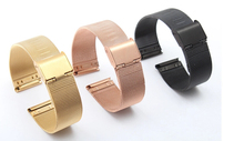 22 mm neuf de haute qualité montre en acier inoxydable Mesh Bracelets bretelles remplacement Band sécurité boucle livraison gratuite